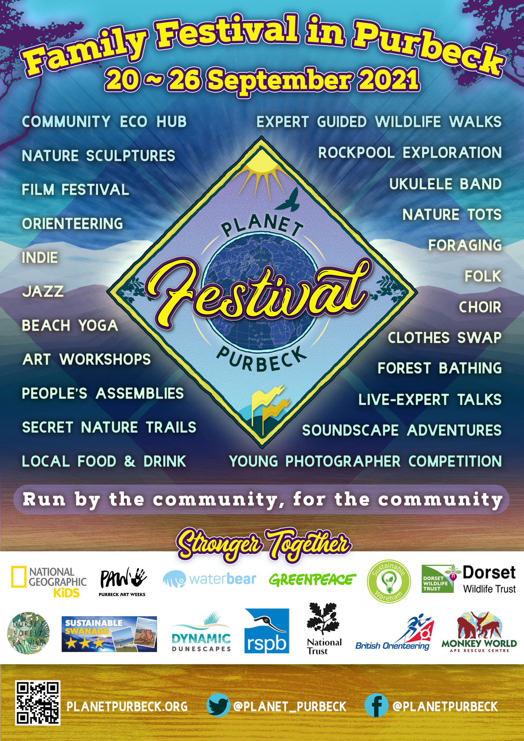 planet purbeck festival poster