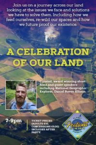 A poster to advertise the Planet Purbeck A Celebration of land event